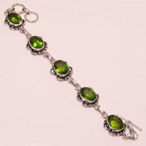 Per 081a bracelet peridot argent 925 achat vente bijoux