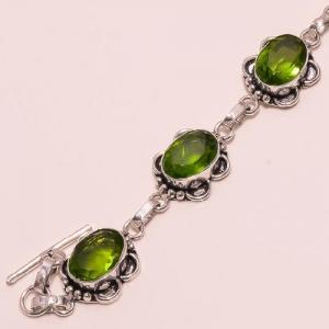 Per 081b bracelet peridot argent 925 achat vente bijoux