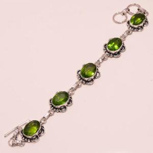 Per 081c bracelet peridot argent 925 achat vente bijoux
