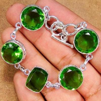 Per 083a bracelet peridot argent 925 achat vente bijoux
