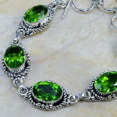 Per 086b bracelet peridot argent 925 achat vente bijoux