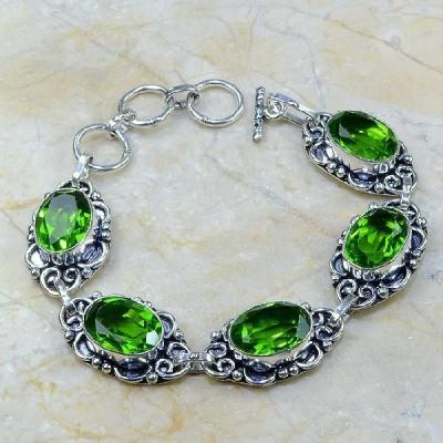 Per 093a bracelet peridot argent 925 achat vente bijoux 1