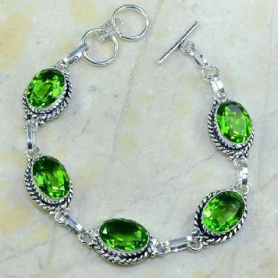 Per 096a bracelet peridot argent 925 achat vente bijoux