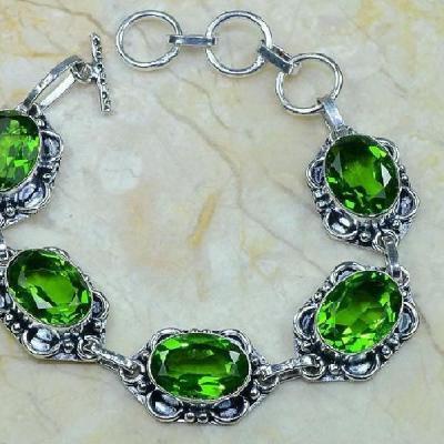 Per 113d bracelet peridot argent 925 achat vente bijoux