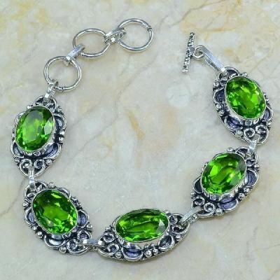 Per 116a bracelet peridot argent 925 achat vente bijoux