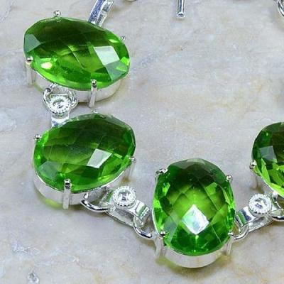 Per 133b bracelet peridot argent 925 achat vente bijoux