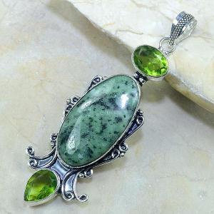 Per 141b pendant pendentif rubis zoisite peridot jade argent 925 achat vente bijou
