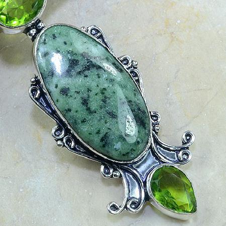 Per 141c pendant pendentif rubis zoisite peridot jade argent 925 achat vente bijou