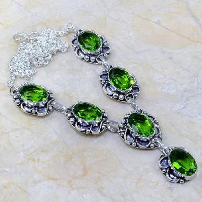Per 144a collier parure sautoir peridot argent 925 achat vente bijoux