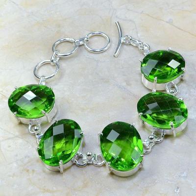 Per 148a bracelet peridot argent 925 achat vente bijoux