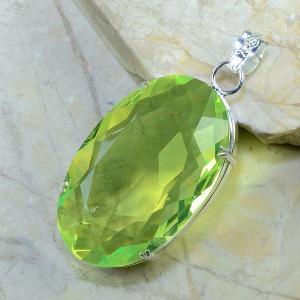 Per 149b pendant pendentif peridot pierre taillee gemme argent 925 achat vente bijoux