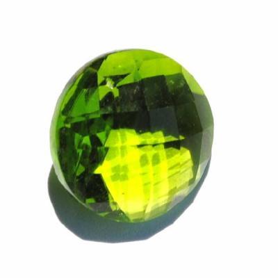PER-160 - PERIDOT pierre taillée, facettée ronde diam 20 mm - 27 carats - 5,4 gr