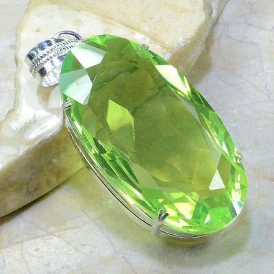 Per 179a pendant pendentif peridot pierre taillee gemme argent 925 achat vente bijoux