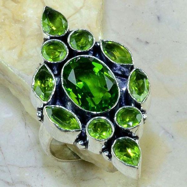 Per 182b bague t61 peridot bijou argent 925 achat vente