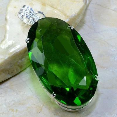 Per 183a pendant pendentif peridot pierre taillee gemme argent 925 achat vente bijoux