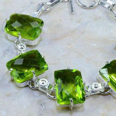 Per 185b bracelet peridot argent 925 achat vente bijoux