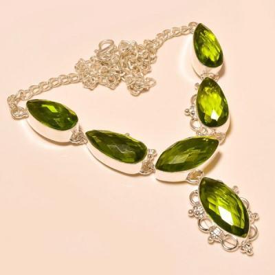 Per 192a collier parure sautoir peridot argent 925 achat vente bijou