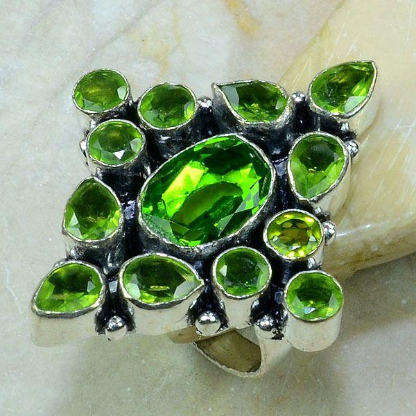 Per 197a bague t58 peridot bijou argent 925 achat vente
