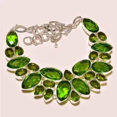 Per 204a collier parure sautoir renaissance grand siecle peridot quartz argent 925 achat vente