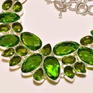 Per 204b collier parure sautoir renaissance grand siecle peridot quartz argent 925 achat vente