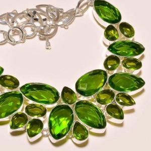 Per 204c collier parure sautoir renaissance grand siecle peridot quartz argent 925 achat vente