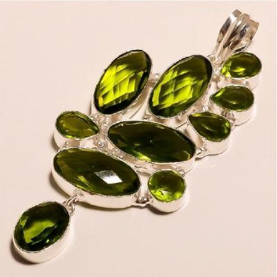 Per 205a pendant pendentif peridot pierre taillee gemme argent 925 achat vente bijoux