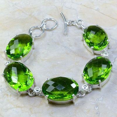 Per 213a bracelet peridot argent 925 achat vente bijoux