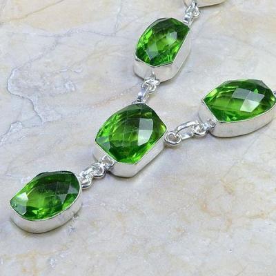 Per 214b collier parure sautoir renaissance grand siecle peridot quartz argent 925 achat vente