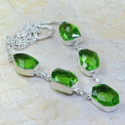 Per 215a collier parure sautoir renaissance grand siecle peridot quartz argent 925 achat vente
