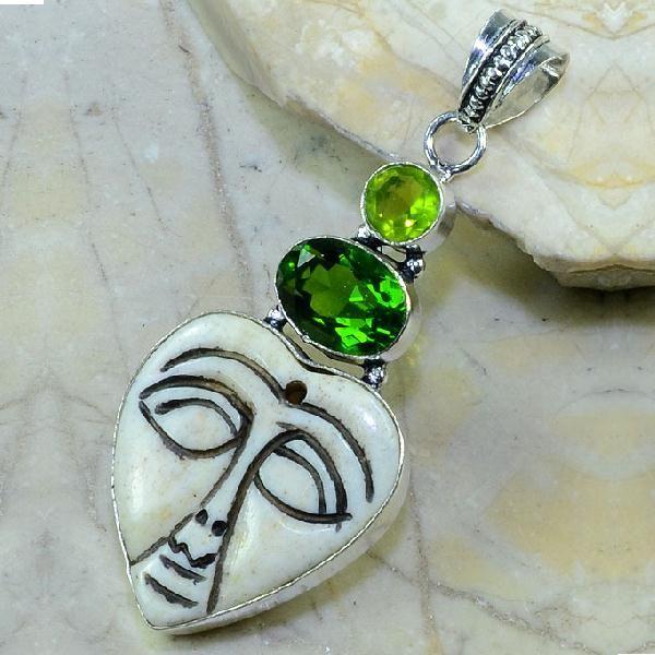 Per 218a pendant pendentif peridot jade bouddha taille argent 925 achat vente bijoux