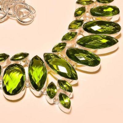 Per 223c collier parure sautoir peridot quartz argent 925 achat vente