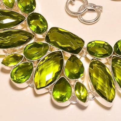 Per 225b collier parure sautoir peridot quartz argent 925 achat vente