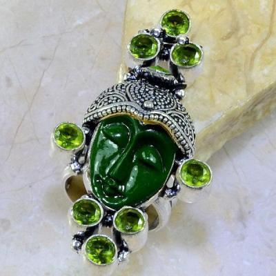Per 229a bague t62 bouddha jade peridot bijou argent 925 achat vente
