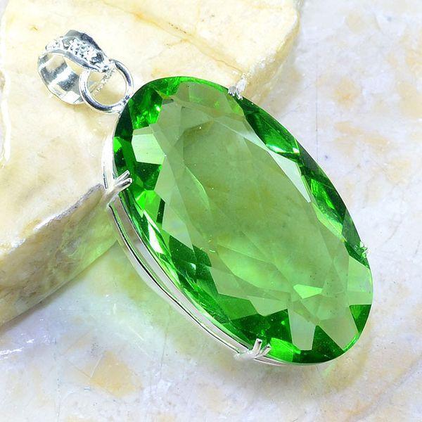 Per 234a pendant pendentif peridot pierre taillee gemme argent 925 achat vente bijoux