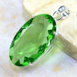 Per 234b pendant pendentif peridot pierre taillee gemme argent 925 achat vente bijoux