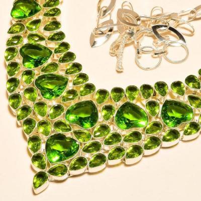 Per 245b collier parure sautoir peridot quartz argent 925 achat vente