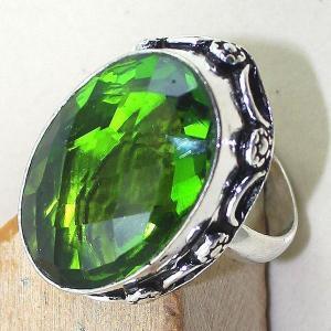 Per 254c bague t58 peridot chevaliere quartz vert bijou argent 925 achat vente
