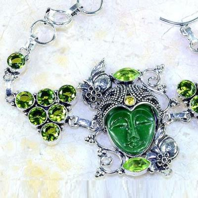 Per 263b bracelet bouddha jade peridot bijou esoterique argent 925 achat vente