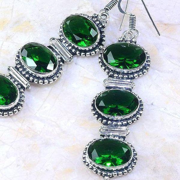 Per 265c boucles pendants oreilles peridot quartz argent 925 achat vente