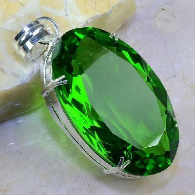 Per 271a pendentif pendant 40g peridot pierre taillee argent 925 achat vente bijoux