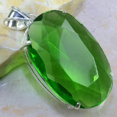 Per 279a pendentif pendant 51g peridot pierre taillee argent 925 achat vente bijoux