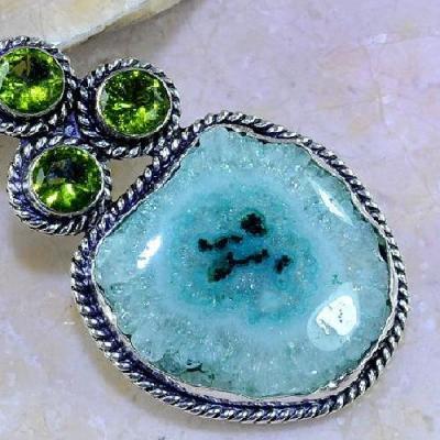 Per 280c pendentif pendant 51g peridot quartz argent 925 achat vente bijoux