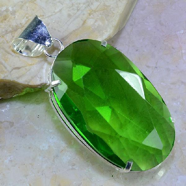 Per 283a pendentif pendant 51g peridot quartz argent 925 achat vente bijoux