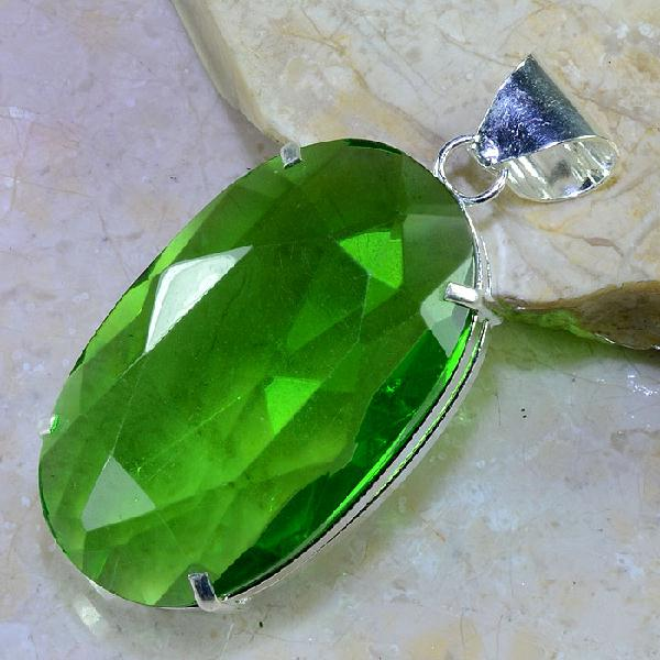 Per 283b pendentif pendant 51g peridot quartz argent 925 achat vente bijoux