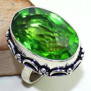 Per 300b bague t60 medievale peridot chevaliere quartz vert bijou argent 925 achat vente