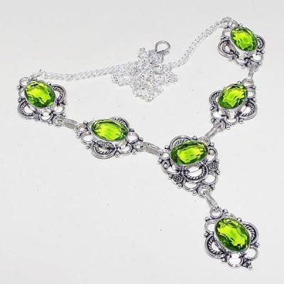 Per 308a parure collier boucles oreilles peridot quartz argent 925 achat vente