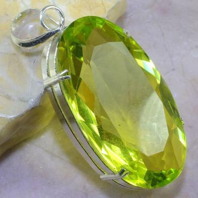 Per 333a pendentif pendant 36gr peridot quartz argent 925 achat vente bijoux 1