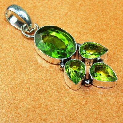 Per 338a pendentif pendant 7 4gr peridot quartz argent 925 achat vente bijoux