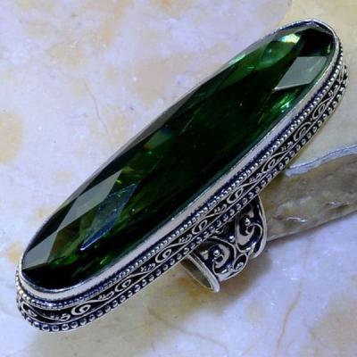 Per 339a bague t60 medievale peridot chevaliere quartz vert bijou argent 925 achat vente