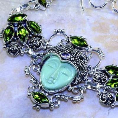 Per 340b bracelet bouddha peridot quartz argent 925 achat vente